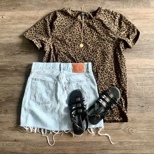 (013) Vintage Leopard / Cheetah Print Tee